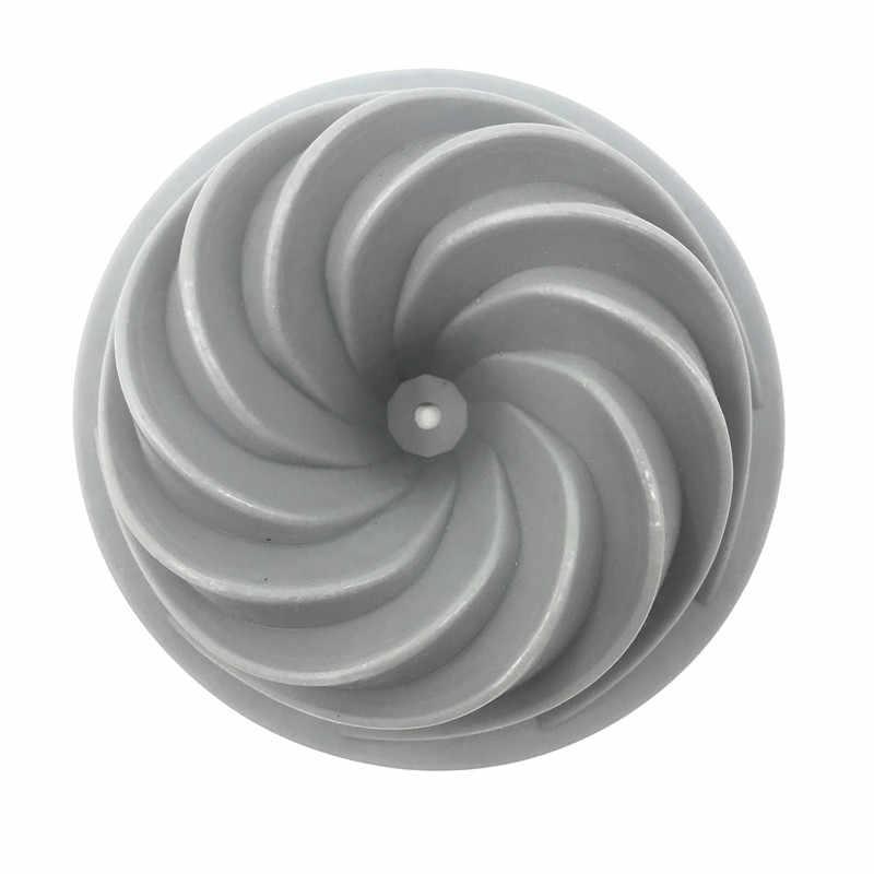 Swirl 3d Siliconen Cakevorm Ronde Vorm Bakken Pan Mousse Cakevorm Siliconen Muffin Cup Ei Taart Bakken Decorating Tool