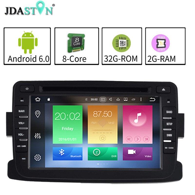 JDASTON 2DIN2GB Ram Android 6 0 font b Car b font DVD Player For RENAULT Dacia