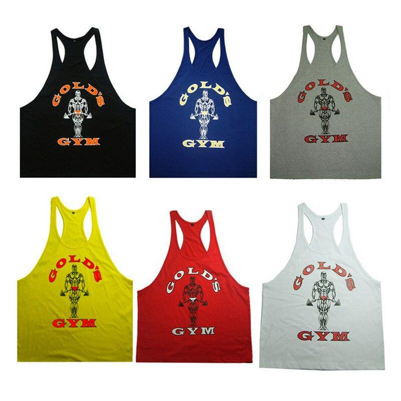Brand-clothing 2017 New Fashion Men Bodybuilding Fitness   Tank     Top   Letters Print Cotton Undershirt Vest   Tops   regatas masculino