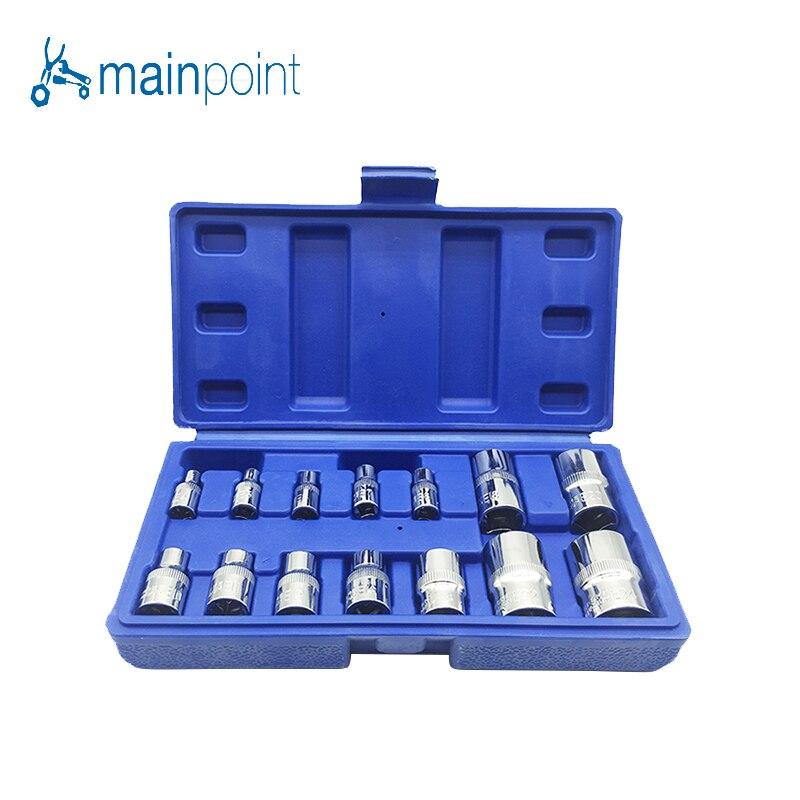 Mainpoint Высокое качество 14 шт. CR-V Star E-гнездо набор Комбинации Привод гнездо Гайки набор для авто ремонт Ручные инструменты