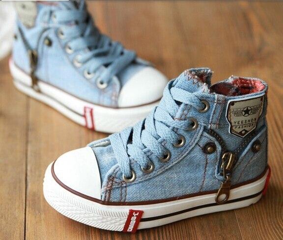 Gratis pengiriman demin jeans menjalankan ritsleting dekorasi laki laki  perempuan anak shoes sneakers anak anak sepatu bayi murah online 25 37  ukuran di ... 761125f55c
