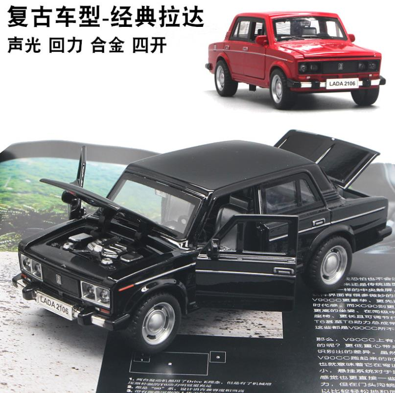 Hx 1:32 Toy Car AutoVAZ- LADA Car Metal Toy Diecasts & Toy Vehicles Car Model Miniature Scale Model Car Toys For Children
