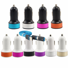 2-1 Data Cable+ 2.1A Car-Charger For Lenovo K3 Note Lenovo S90 A536 P780 Vibe Shot X2 USB Charger & Other phones USB Car Charger