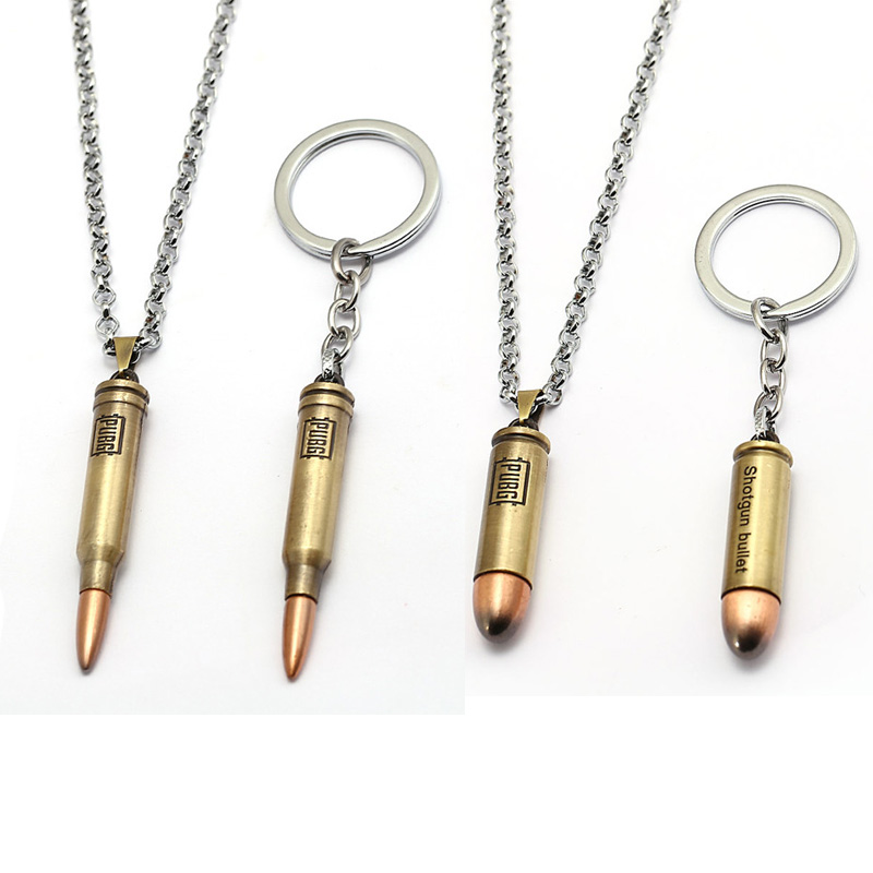 Hot Game PUBG Gun Bullets Keychains letter 300 Win Mognum High Quality Metal Key Ring Key Chains For Player's Gifts Porte Cleft