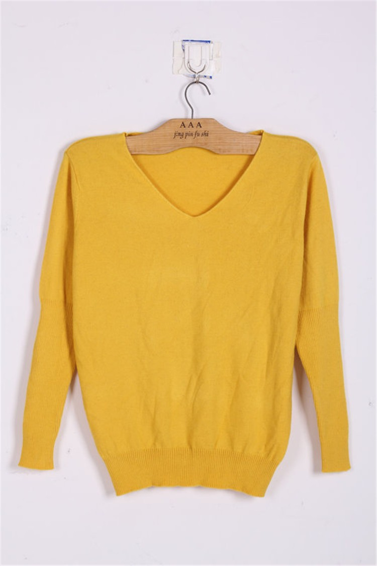 19 Spring autumn cashmere sweaters women fashion sexy v-neck sweater loose 100% wool sweater batwing sleeve plus size pullover 14