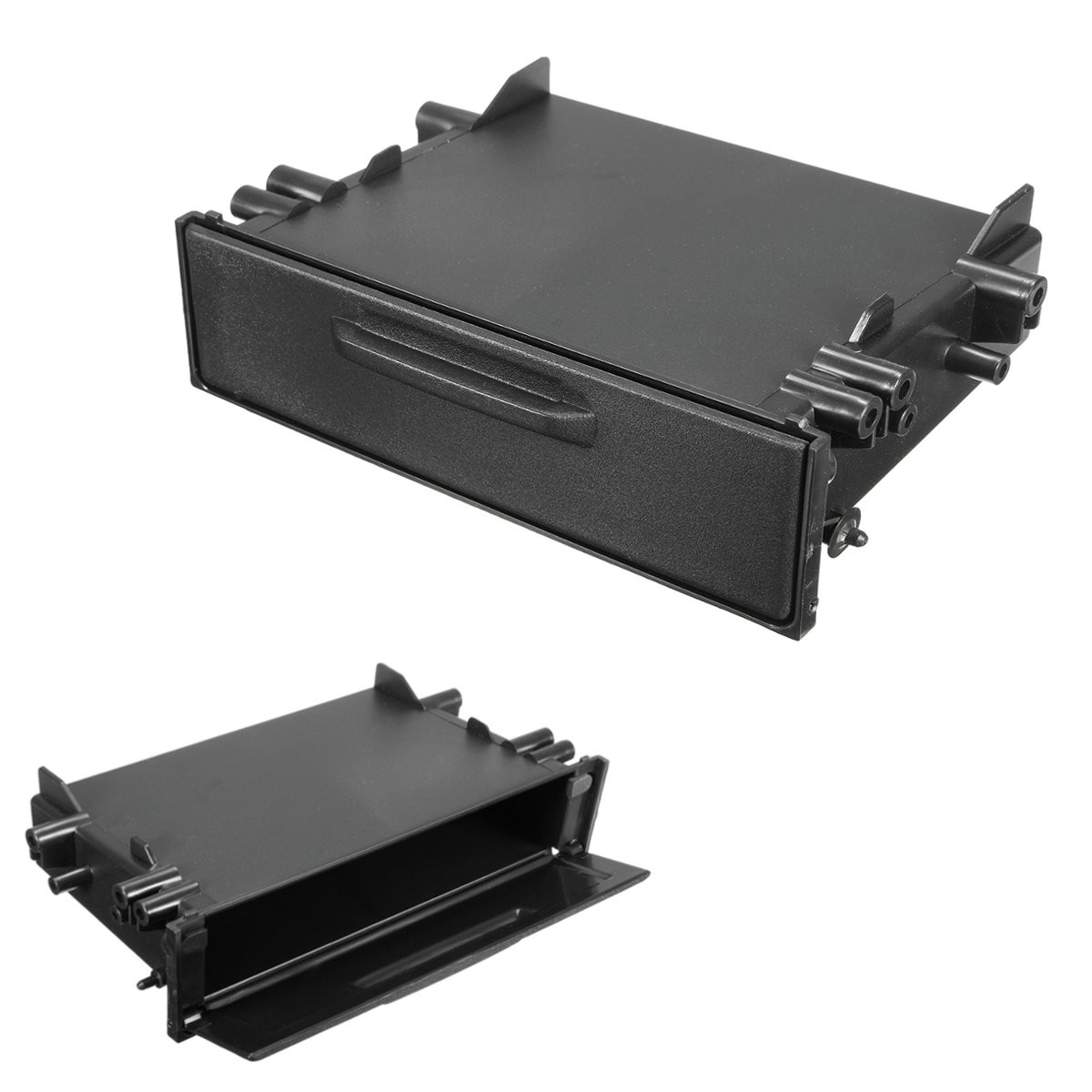 Universal Single Din Car CD Player Radio Stereo Dash Trim Storage Box Organizer Kit