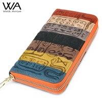 Genuine Leather Women Wallet Embossed Leather Purse Brand Design Clutch Wallet Money Bag Fashion Coins Holder