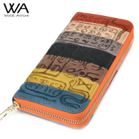 Genuine Leather Women Wallet Embossed Leather Purse Brand Design Clutch Wallet Money Bag Fashion Coins Holder