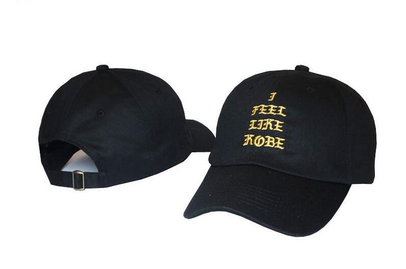 Prix pour Chaude Lettre broderie je me sens comme kobe chapeau hip hop cap casquette de baseball hommes femmes loisirs en plein air soleil chapeau À La Mode snapback CHAUX couleur