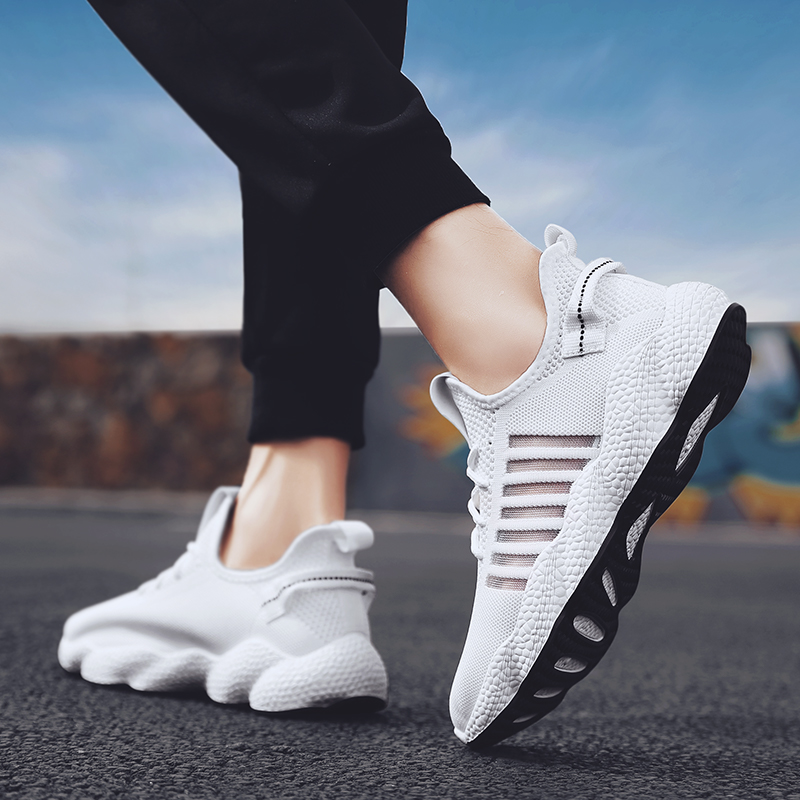 Adisputent 2019 Fashion Autumn Outdoor Casual Shoes Men Breathable Walking Designer Leisure Comfortable Shoe Flying Weave Shoes