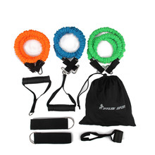 Купить с кэшбэком 9pcs man resistance bands exercise set fitness tube yoga workout pilates for wholesale and free shipping kylin sport