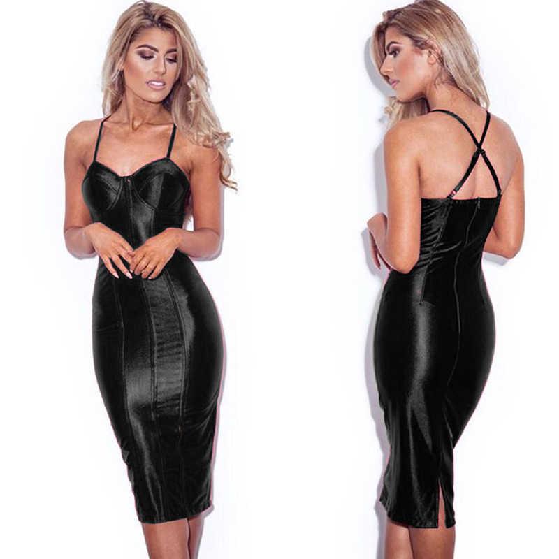 1f47a645b813 ... Sexy Party Midi Dress Bodycon Satin Shiny Party V Neck Sleeveless Split  Back Cross Straps Gold ...