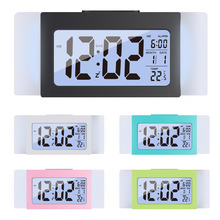 Hot Multifunction LED Mirror Alarm Clock Digital Snooze Display Time Night Led Light Table Desktop Despertador