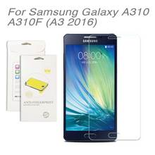 3pcs lot For Samsung galaxy A310 A3 2016 High Clear LCD Screen Protective Film Screen Guard