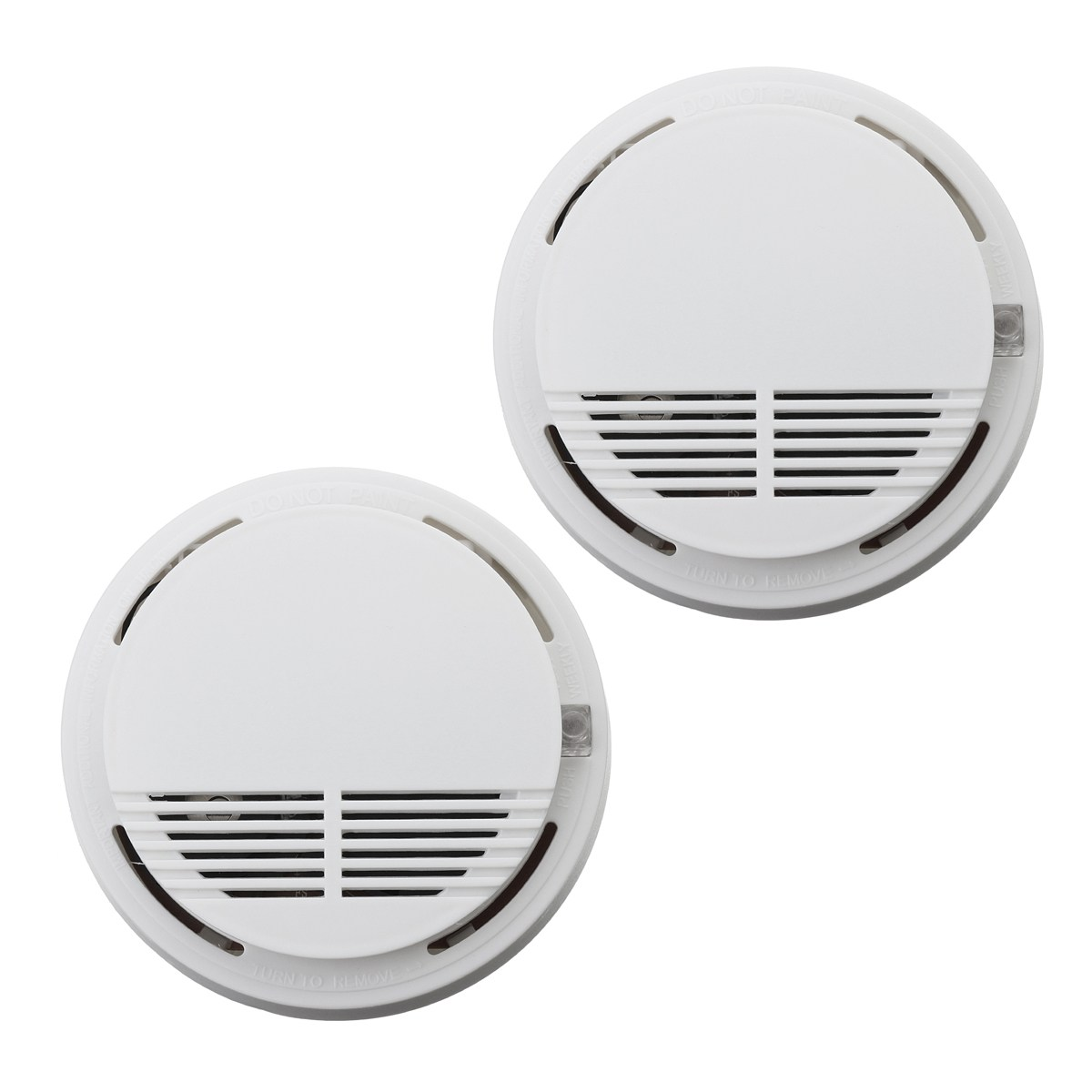 Safurance 2Pcs Home Security Photoelectric Cordless Smoke Detector Fire Sensor Alarm White High Sensitive yobangsecurity high sensitivity photoelectric smoke detector fire alarm sensor for home security independent smoke sensor white