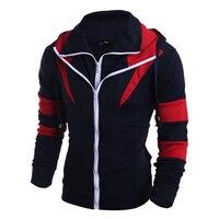 Double Zipper Men S Hoodies Sweatshirts Men Autumn Winter Thrasher Sports Hooded Jacket Male Assassins Creed