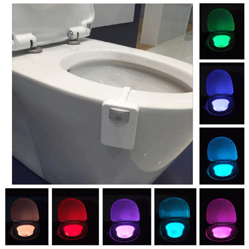 HobbyLane 16 Colors Large Angle Intelligent Sensor Toilet Lamp For Lighting