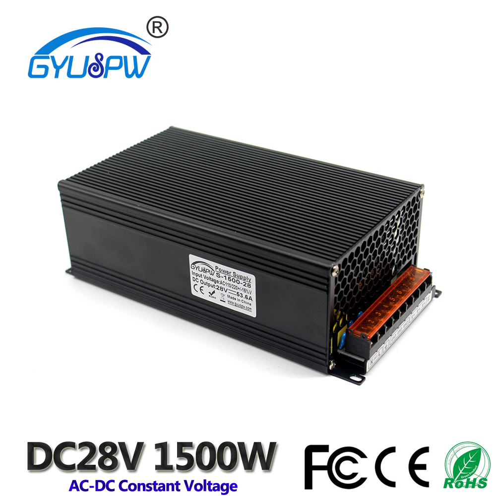 Power Supply DC 28V 53.6A 1500W Switching Power Source Driver Transformer 220V AC DC28V SMPS For LED Light CNC Router CCTV Motor-in Switching Power Supply from Home Improvement    1