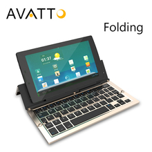 [AVATTO] Aluminum A19 Bluetooth Folding Keyboard Foldable BT Wireless Touchpad Keypad For IOS/Android/Windows Phone Ipad Tablet