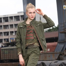 Womens Fashion Army Green Jackets Winter New Casual Coats & Jackets British Style Cotton Warm Slim Fit Women's Clothing GS-8213