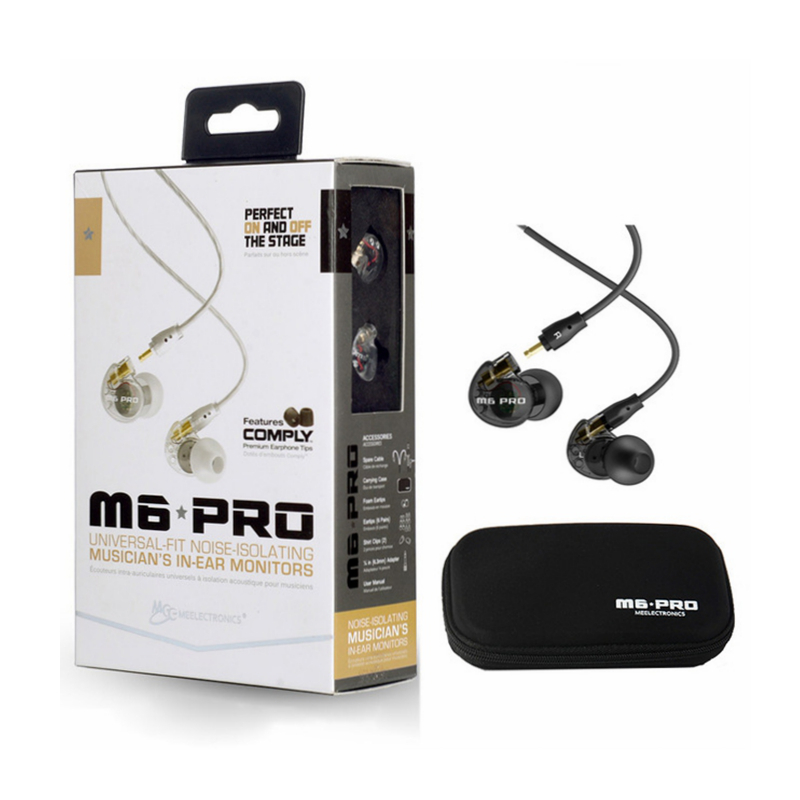 M6 PRO Noise-isolating HiFi In-Ear Monitors Earphones with Detachable Cables Musician's In-Ear Monitors headset with retail box  dhl free 2pcs black white m6 pro universal 3 5mm wired in ear earphone noise isolating musician monitors brand new headphones