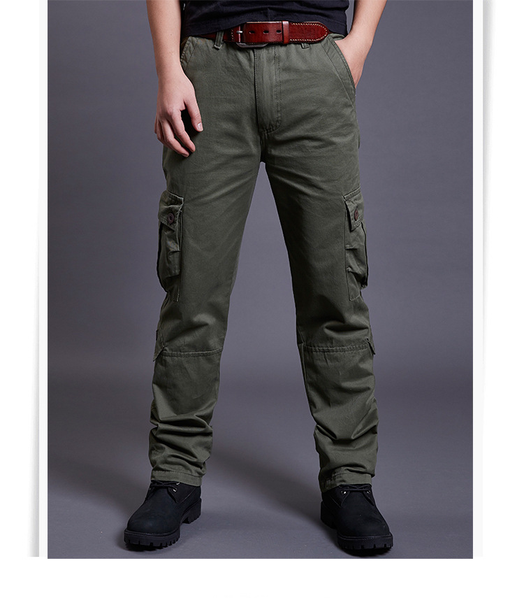 Icpans Winter Tactical Black Cargo Pants Men Loose Fit Military Style Side Pockets Army Black Denim Casual Men Pants Size 40 42 4