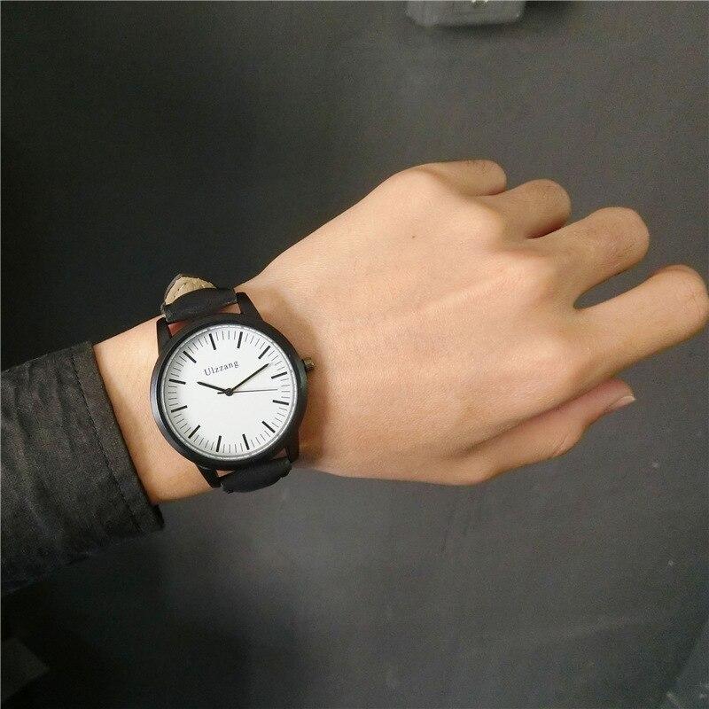 Chaude de mode creative montres femmes hommes quartz-montre 2017 marque unique design du cadran lovers montre en cuir montres horloge