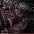 Para Renault Fluence LAGUNA Talisman Latitud marca cuero negro asiento de coche cubierta delantera y trasera conjunto Completo cubierta del amortiguador del coche