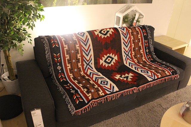 Tribal Tapestry Throw Blanket Small Rugs Cotton Polyester Wall Hanging Kilim Geometric Ethnic Sofa Cover Beach Towel