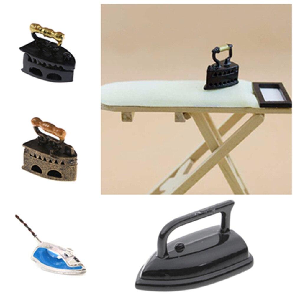 New 1:12 Mini Dollhouse Miniature Adornment Iron Clothes Ironing Board Tool Furniture Toys