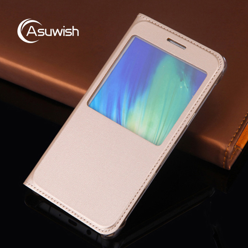 Leather Flip Case For Samsung Galaxy A3 <font><b>A5</b></font> A7 <font><b>2016</b></font> A 3 <font><b>5</b></font> 7 SM A310 A510 A710 A310F A510F A710F DS Clear Window Phone Cover Funda image