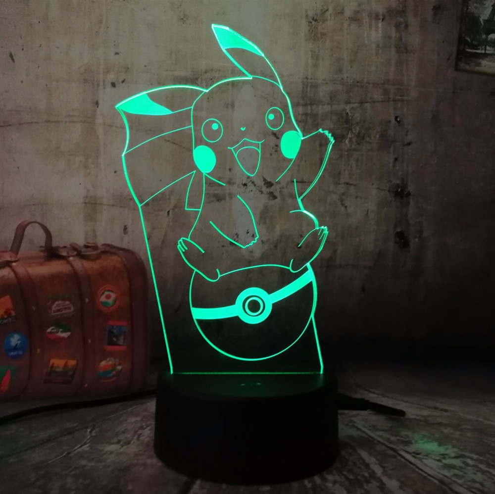 Optical Bedside Table Night Lights Illuminating Kids Lamp 7 Colour Changing Touch Button USB Decoration Desk Lamps Christma Childrens room decoration lamp/& Transformers Led Illusion Lamp Night Light