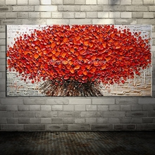 Arthyx Paintings Large Size Hand Paint Palette Knife Flower Oil Painting on Canvas Modern Wall Art For Living Room Home Decorati