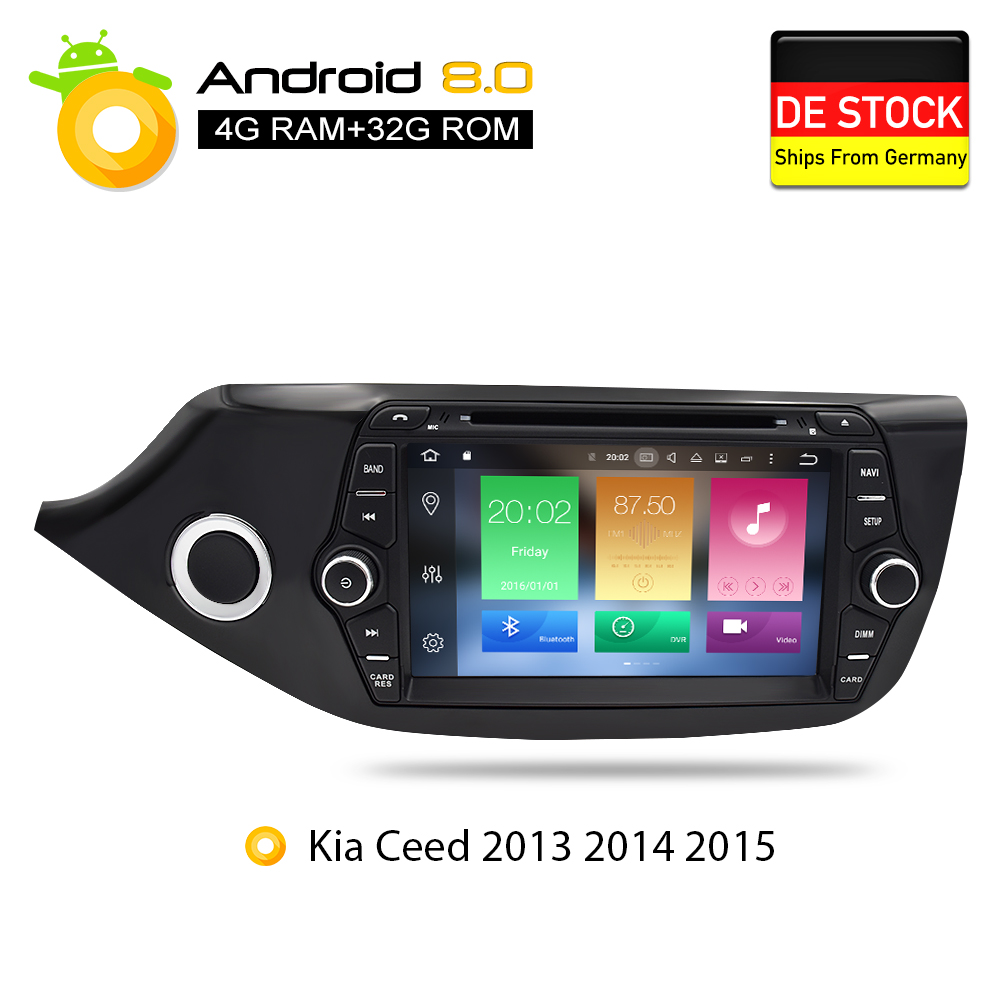 Android 7.1 8.0 Car DVD Player GPS Glonass Navigazione Multimediale per Kia Ceed 2013 2014 2015 Auto RDS Radio Audio video Stereo