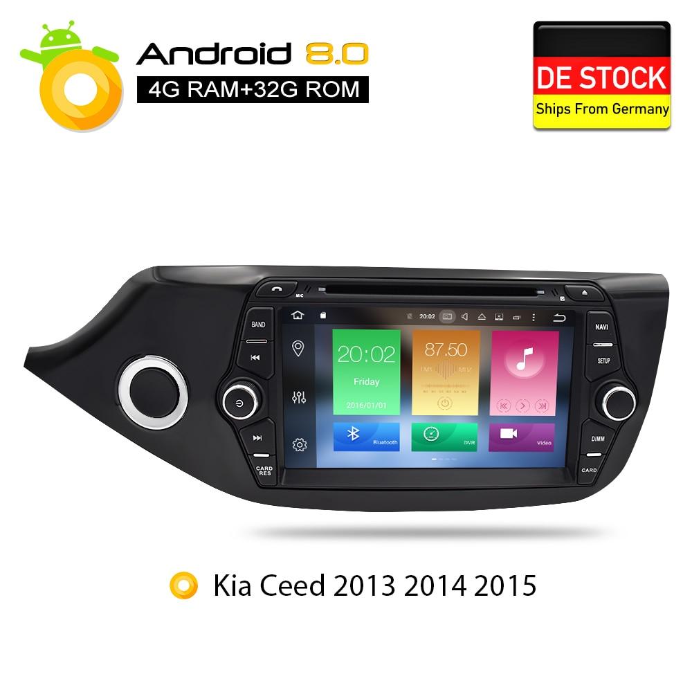 Android 7.1 8.0 Voiture lecteur dvd gps Glonass Navigation Multimédia pour Kia Ceed 2013 2014 2015 Auto RDS Radio Audio Vidéo Stéréo