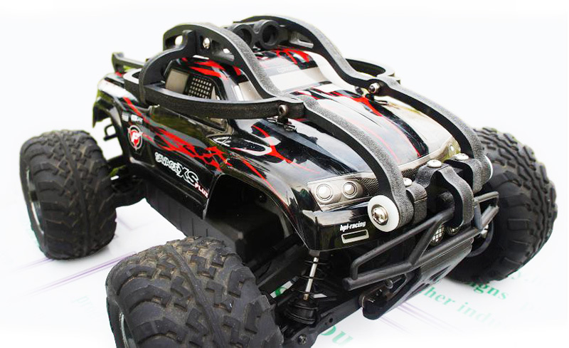 rc car Frame OP parts,HPI 1/10 Savage XS FLUX Roll cage & Ford raptor 150 shell protection Frame wheelie bar