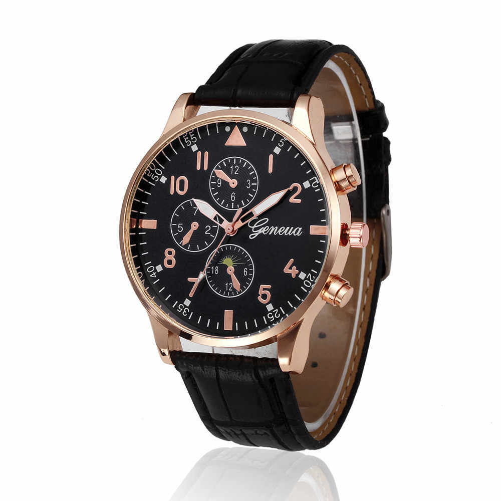 Retro Design Leather Band Men's Watch Leather Brand Relogio Masculino Sports Clock Analog Quartz Wrist Watch Men reloj hombre