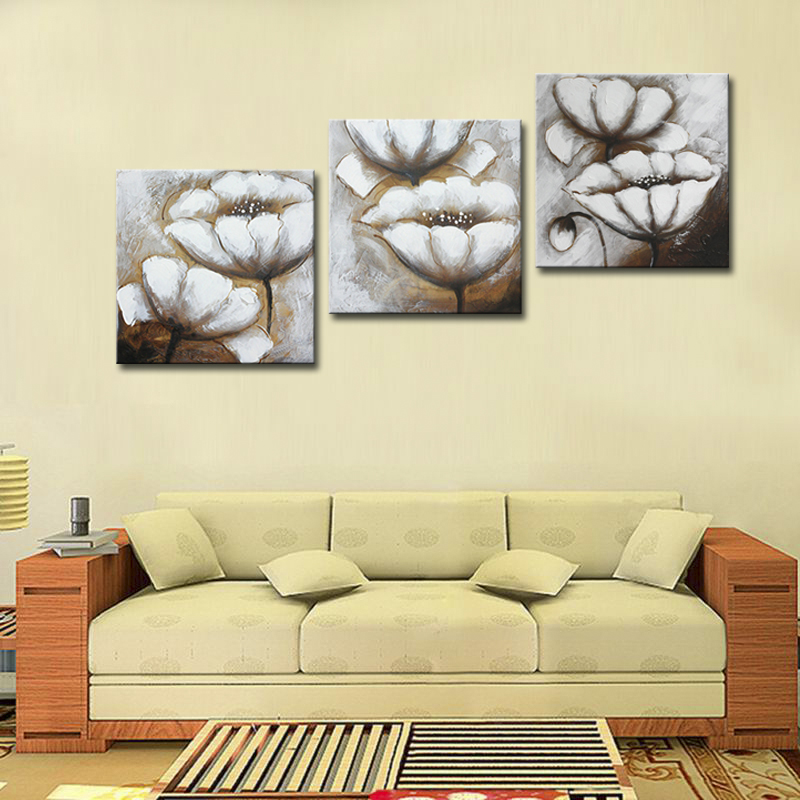 Frameless Canvas Art Oil Painting Flower Painting Design: Frameless Abstract Flower Oil Paintings Pictures And