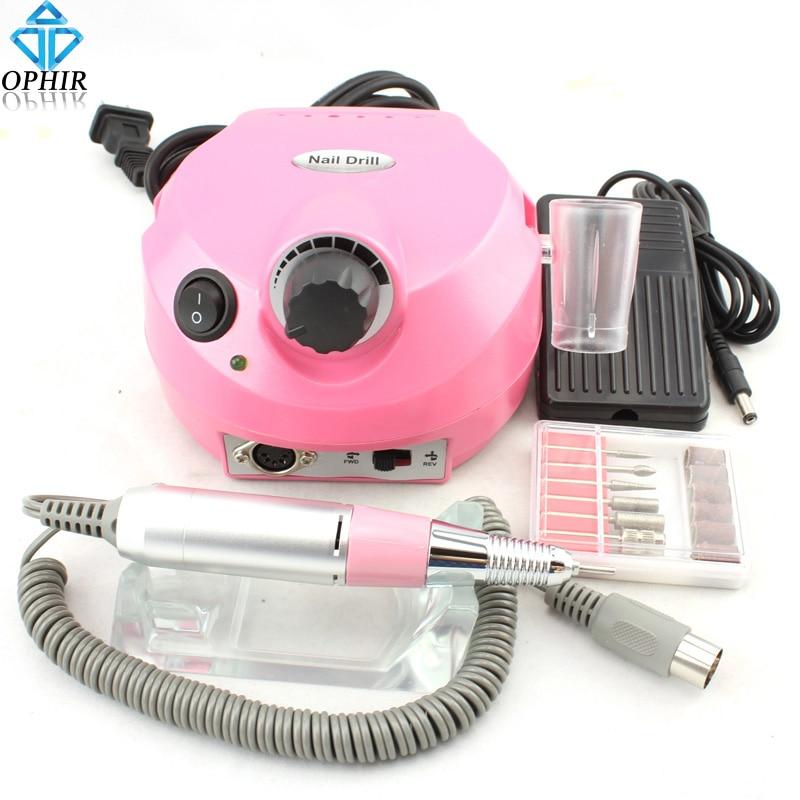 2017 Ophir Professional Electric Nail Drill Machine Tools Pink Kits 220v Eu Plug Bits Kd143p In Manicure Drills