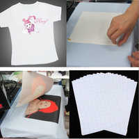 Горячая Распродажа 2018, 10 листов, футболка, A4, утюг на струйной печати, теплопроводная бумага, светильник, цветная ткань