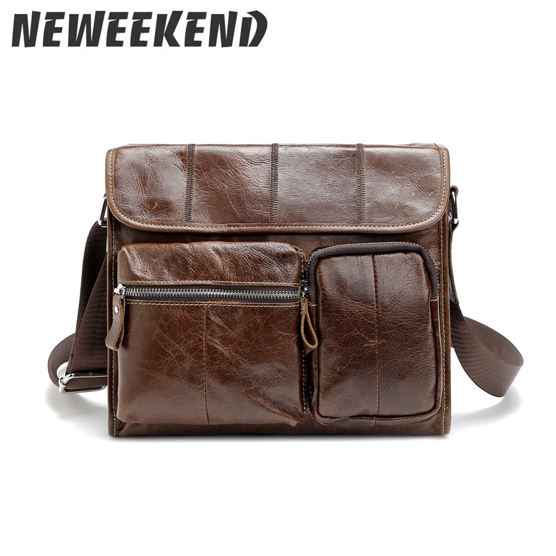 Genuine Leather Shoulder Bags Fashion Men Messenger Bag Small ipad Male Tote Vintage New Crossbody Bags Men's Handbags 380 zznick genuine leather shoulder bags fashion men messenger bag small ipad male tote vintage new crossbody bags men s handbag
