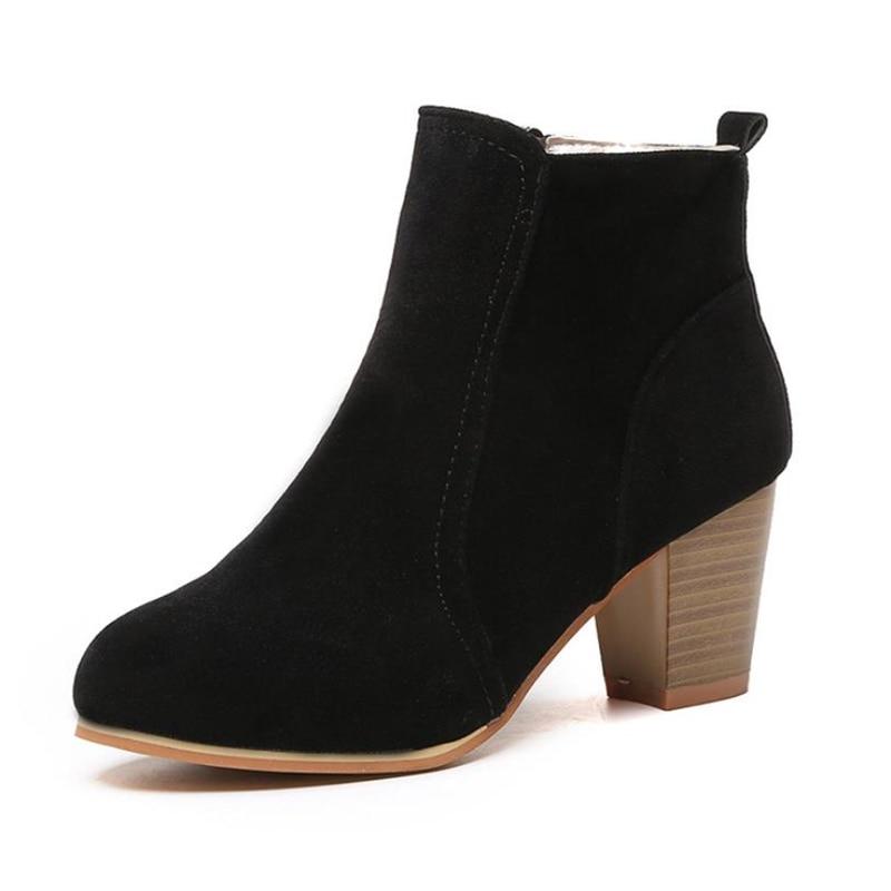 Hauts Femme Chaussures Femmes Beige Martin Automne De Cheville noir Mode 2018 Bottes Nouveau À rouge Talons XxqwU8R