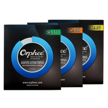 Orphee High End Professional SA Series Medium Light Extra Light Acoustic Guitar Strings 90/10 Bronze Guitar Accessories
