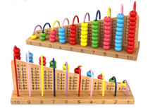 цена на New Wooden Baby Toy Early Childhood Educational Baby Toys Abacus Frame Subtraction Learning Toy
