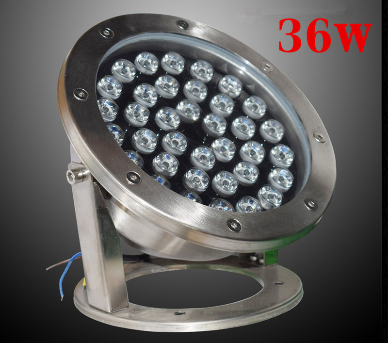 RGB LED Underwater Light 36W DC12V 24V IP68 Waterproof Swimming Pool Light Lamp Water Spotlight Fountain Lights Outdoor DMX512 - 2