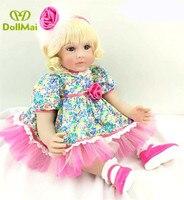 24/60 cm Handmade Dolls Silicone Reborn Babies Alive Doll Toys for Children Adorable Doll menina Chirstmas Girl bebes reborn