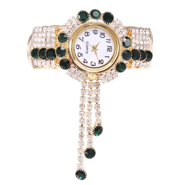 New Style Women's Watches Girls Clock Alloy Fashion Watch Creative Wristwatches Fringe Quartz Bracelet Watch models Relojes  Q4