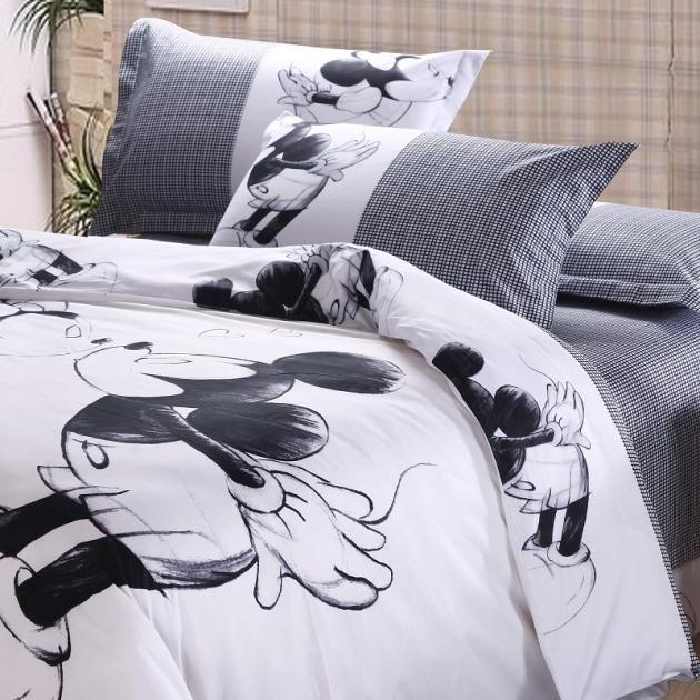 Mickey And Minnie Black And White Bedding Www Pixshark