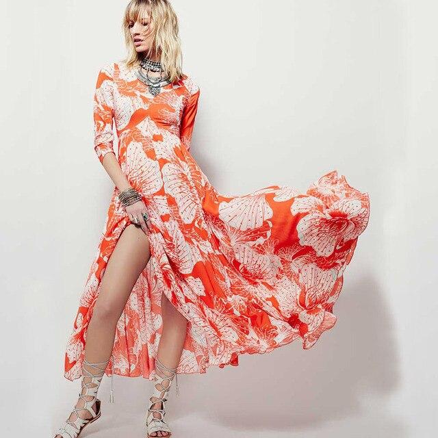Aliexpress.com : Buy long summer dress Cotton Maxi Dress Floral ...