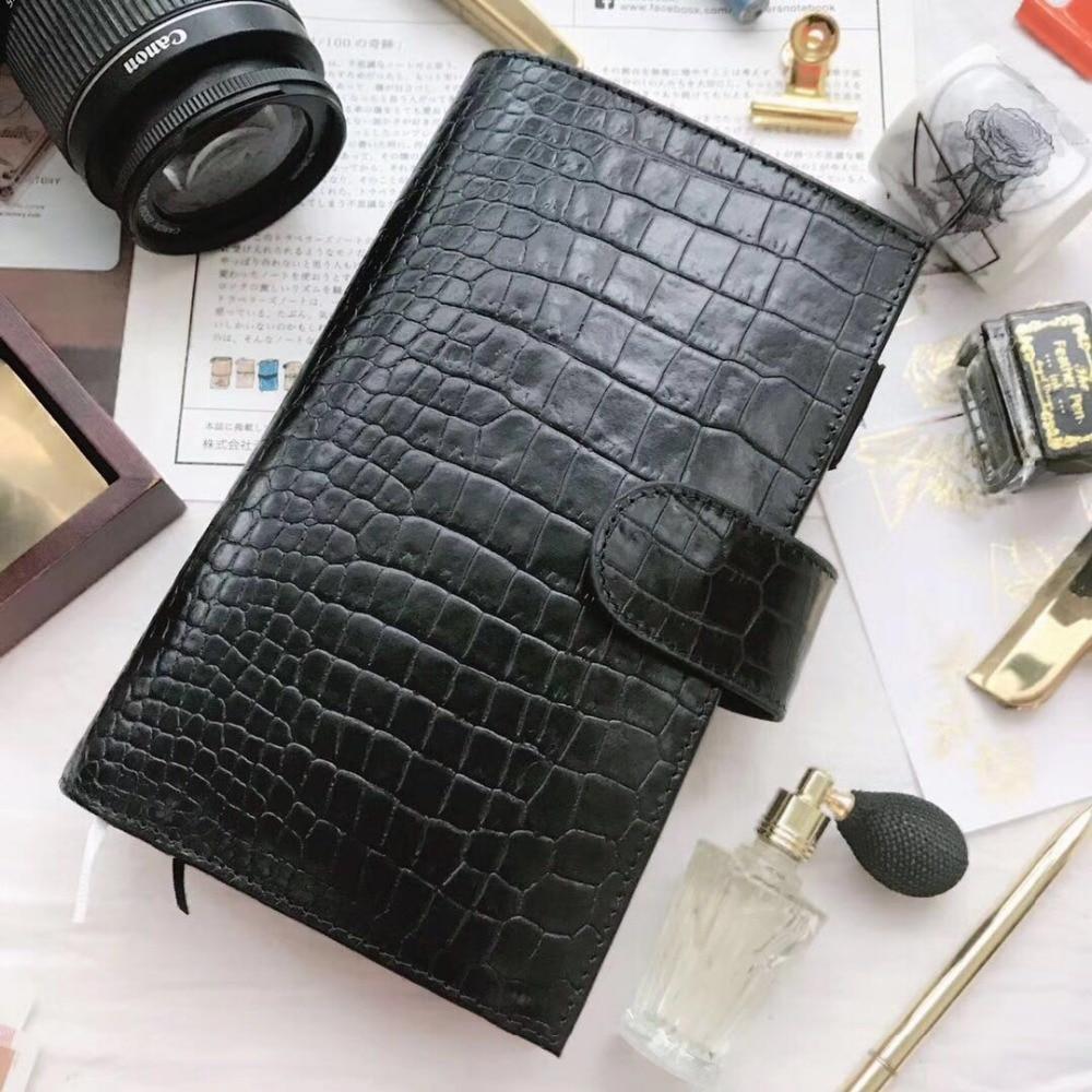 Yiwi 2018 Original Genuine Leather Planner TN HOBO WEEKS A6 Notebook